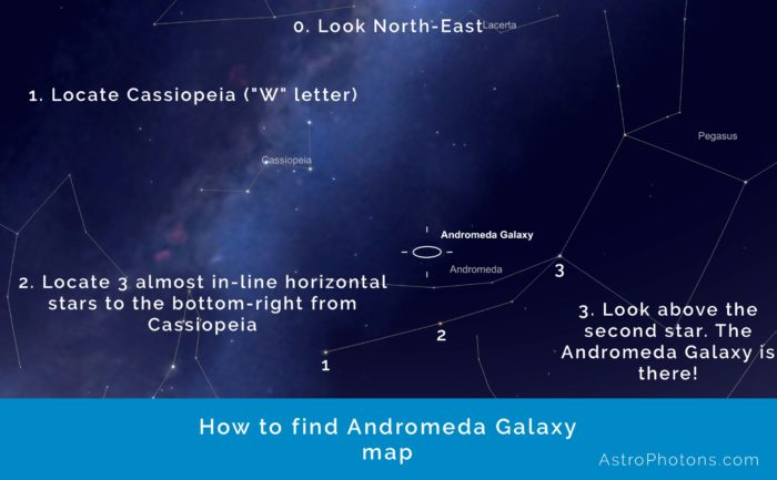 How to find Andromeda Galaxy map
