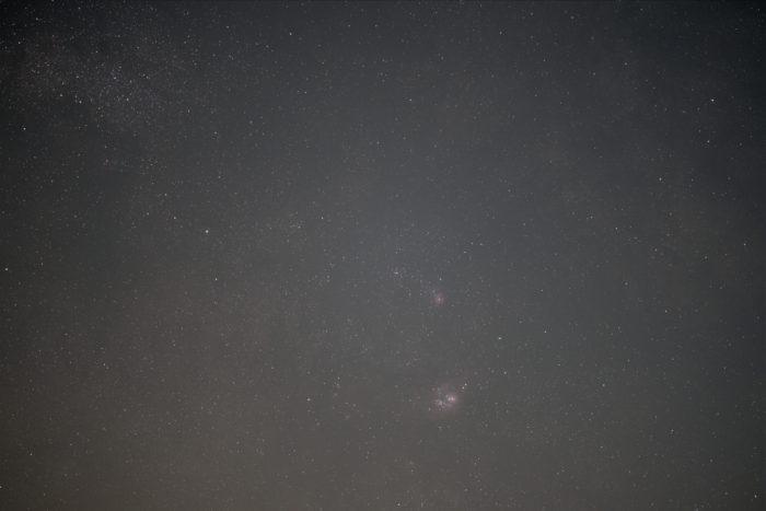 Trifid and Lagoon nebulae, unprocessed