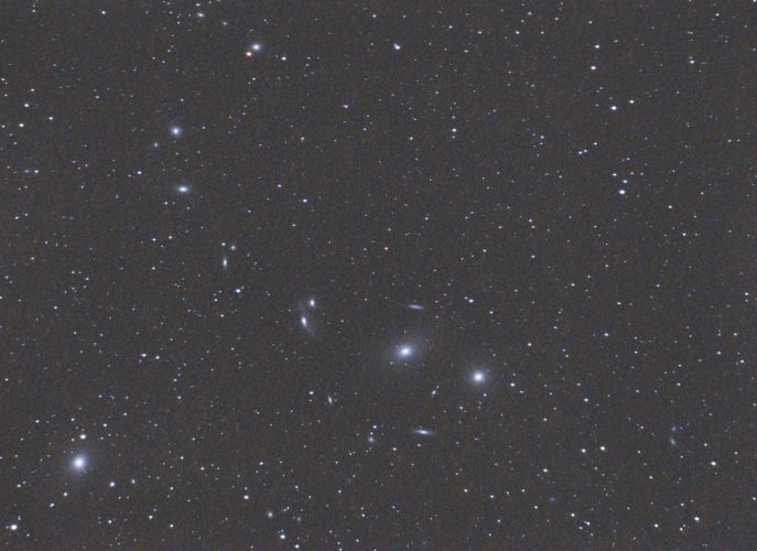 Markarian's Chain, an easy Spring astrophotography target.
