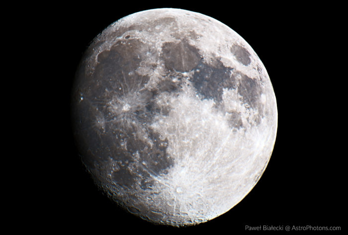 Moon - an example of planetary astrophotography