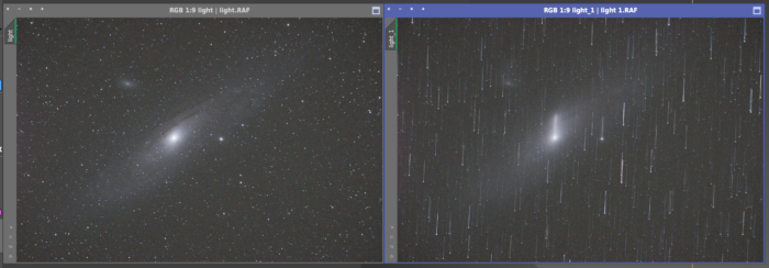 Star tracking in PixInsight