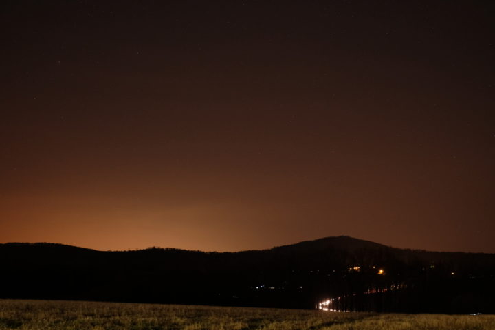 Night landscape with the Hoya Red Intensifier filter.