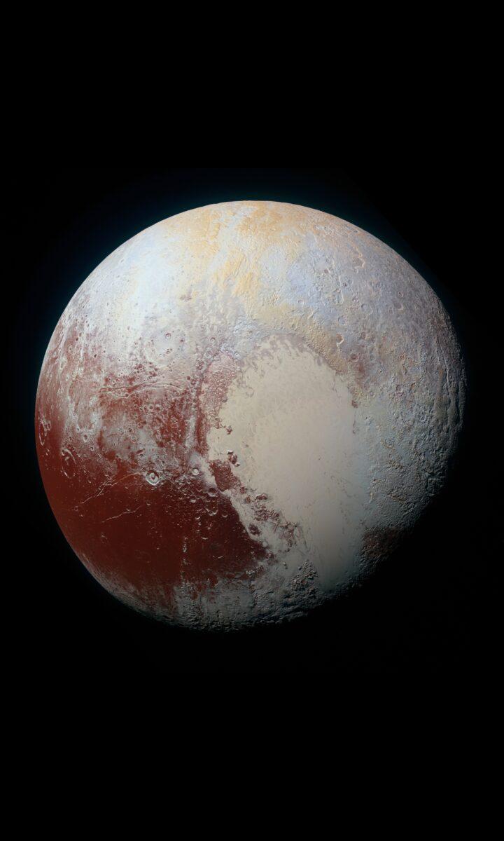 Pluto photographerd by the NASA's New Horizons spacecraft in 2015.